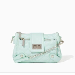 Charming Charlie mint green quilted crossbody
